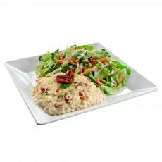 Risoto Tomate Seco com Rúcula + Salada