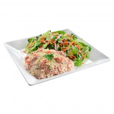 Risoto Carne Seca e Abobora + Salada